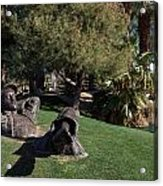 The Dreamer Sculpture In Palm Desert Acrylic Print