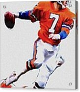 The Drive  John Elway Acrylic Print by Iconic Images Art Gallery David Pucciarelli