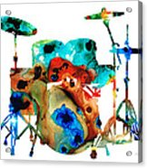 The Drums - Music Art By Sharon Cummings Acrylic Print