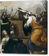 The Duel Of Isabella De Carazzi And Diambra De Pottinella Acrylic Print