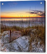 The Dunes At Sunset Acrylic Print