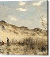 The Dunes Of Dunkirk Acrylic Print by Jean Baptiste Camille Corot