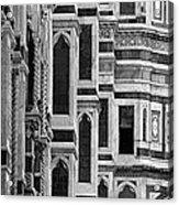 The Duomo Black And White Acrylic Print