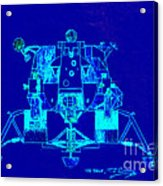 The Eagle Apollo Lunar Module In Blue Acrylic Print