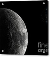 The Earth And Moon Acrylic Print