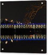 The East Falls Bridge At Night - Philadelphia Acrylic Print