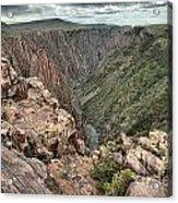 The Edge Of Back Canyon Acrylic Print