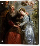 The Education Of The Virgin Acrylic Print