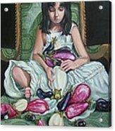 The Eggplant Princess Acrylic Print by Shelley Laffal