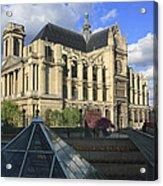 The Eglise De Saint-eustache Paris France  Acrylic Print