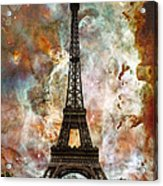 The Eiffel Tower - Paris France Art By Sharon Cummings Acrylic Print by Sharon Cummings