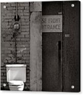 The Electric Outhouse Acrylic Print by   Joe Beasley