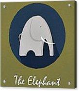 The Elephant Cute Portrait Acrylic Print