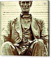 The  Emancipation Proclamation And Abraham Lincoln Acrylic Print