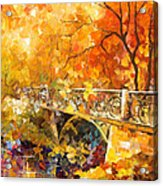 The Embassay Of Autumn - Palette Knife Oil Painting On Canvas By Leonid Afremov Acrylic Print