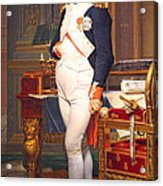 The Emperor Napoleon In His Study At The Tuileries By Jacques Louis David Acrylic Print
