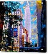 The Empire State Building Acrylic Print by Jon Neidert