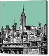 The Empire State Building Pantone Jade Acrylic Print