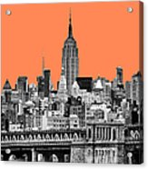 The Empire State Building Pantone Nectarine Acrylic Print