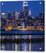 The Empire State Building Pastels Esb Acrylic Print