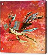 The Empress - Flight Of Phoenix - Red Version Acrylic Print by Bedros Awak