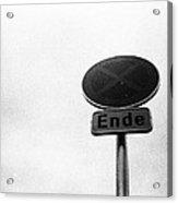 The End Acrylic Print by Anton Ishmurzin