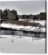 The End Of Winter On The Moose River Acrylic Print
