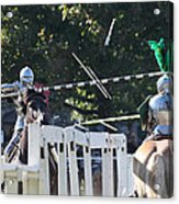 The End To The Jousting Contest  Acrylic Print