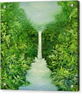 The Everlasting Rain Forest Acrylic Print by Hannibal Mane