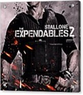 The Expendables 2 Stallone Acrylic Print