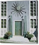 The Facade Of Tony Duquette's House Acrylic Print