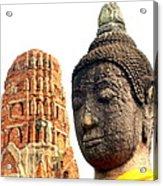 The Face Of A Buddha Acrylic Print