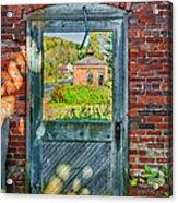 The Factory Door Acrylic Print