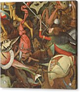 The Fall Of The Rebel Angels, 1562 Oil On Panel Detail Of 74037 Acrylic Print