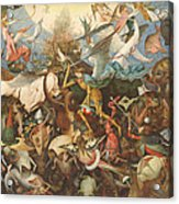 The Fall Of The Rebel Angels, 1562 Oil On Panel Acrylic Print