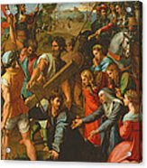 The Fall On The Road To Calvary, 1517 Oil On Canvas Acrylic Print