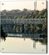 The Falls Bridge Over The Schuylkill River Acrylic Print