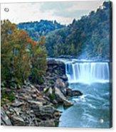 The Falls In Fall Acrylic Print