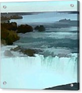 The Falls-oil Effect Image Acrylic Print