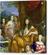 The Family Of Louis Xiv 1638-1715 1670 Oil On Canvas Detail Of 60094 Acrylic Print