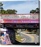 The Famous Graffiti Bridge Acrylic Print