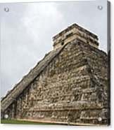 The Famous Kulkulcan Pyramid At Chichen Itza Acrylic Print