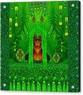 The Fantasy Girl In The Fauna  Acrylic Print