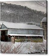 The Farm By The Creek Acrylic Print