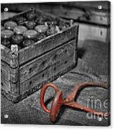The Farmer's Milk Crate  Acrylic Print by Lee Dos Santos