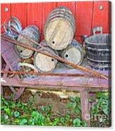 The Farmer's Old Wheelbarrow Acrylic Print
