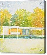 The Farnsworth House Acrylic Print