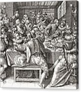 The Feast, After A 17th Century Engraving By N. De Bruyn.  From Illustrierte Sittengeschichte Vom Acrylic Print