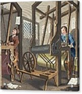 The Fellow Prentices At Their Looms Acrylic Print