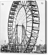 The Ferris Wheel At The Worlds Columbian Exposition Of 1893 In Chicago Bw Photo Acrylic Print